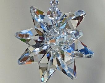 Car Rearview Mirror Charm, Chakra Hanging Ornament, Crystal Suncatcher, Crystal Starburst, Light catcher, 7 Chakra Balance, Rainbow Maker,