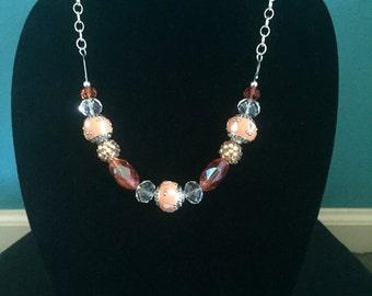Peach & Orange Necklace