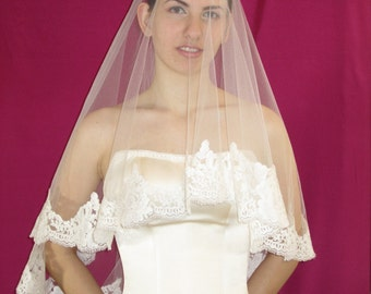 Mantilla French Lace Wedding Veil