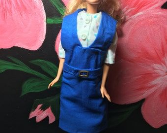 Barbie Overall & Dress Set Vintage Style