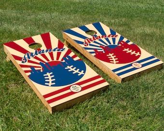 Atlanta Braves Cornhole Board Set