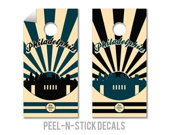 Philadelphia Eagles Cornhole Board Decals