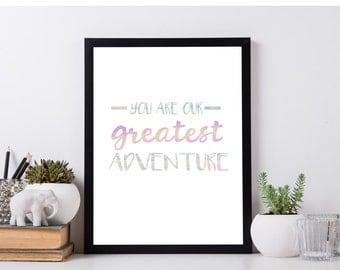 Greatest Adventure Foil Print | Nursery Decor | Wall Art | Baby's Room | Baby Shower Gift | New Baby
