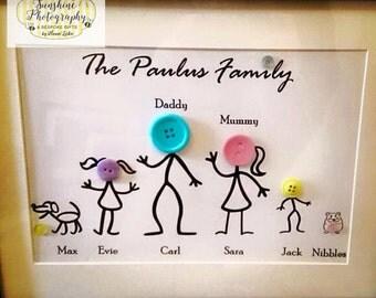 Button Family Portrait A4