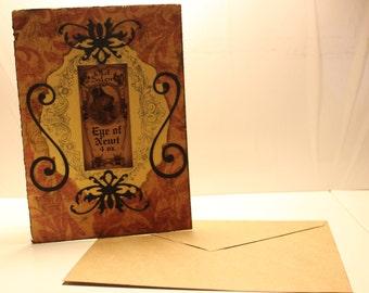 Handmade Halloween Greeting Card