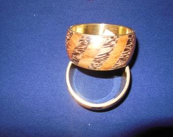 women  wood and copper  bracelets