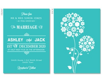 100 Wedding Invitions with Envelopes & 100 Save the Date Cards