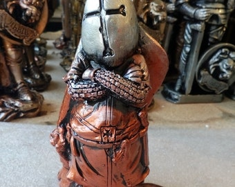 statuette Knight of plaster handmade perfect gift height about 5.6 inch