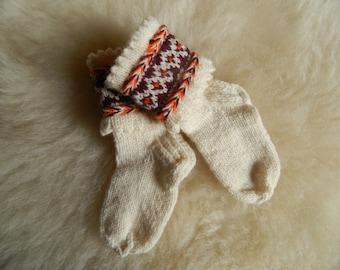 Knitted socks for kids