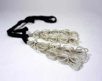 Hair Accessory and Necklace - White