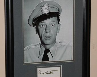 Don Knotts Autograph Signed card Framed 11x14 ANDY GRIFFITH SHOW