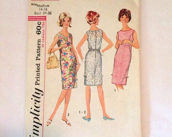 Vintage Simplicity 1960s pattern number 5504, Simplicity dress patter, vintage dress patterns, vintage sewing pattern, sewing dress pattern