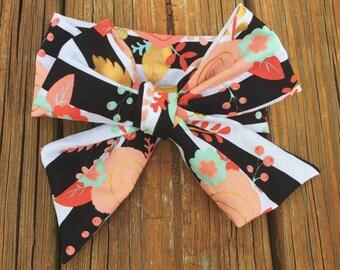 Midnight Floral Head Wrap ; Fabric Head Wrap