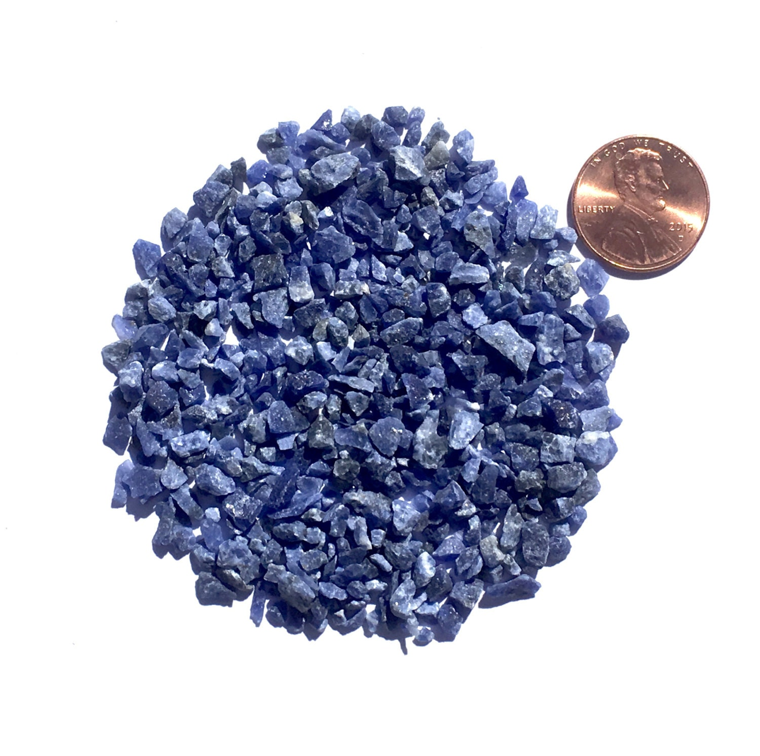 Crushed Gemstone For Inlays : Crushed sodalite stone inlay coarse ounce