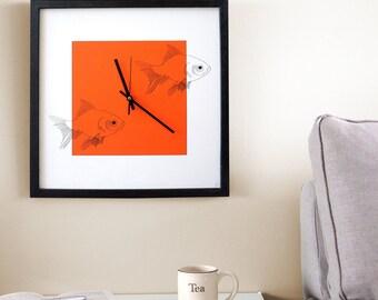 Silent Hobby Wall Clock - Fishing