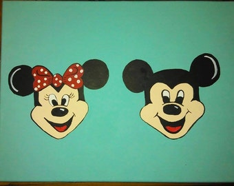 Personalized Mickey and Minnie Painting