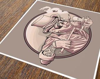 Tinkerer Steampunk Illustration // giclee print