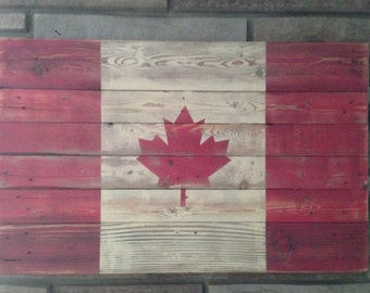 Weathered Canada Flag