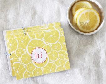 Lemons Folded Card Set