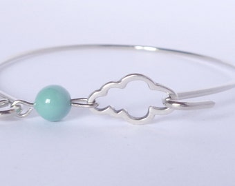 Bracelet band cloud and his color jade Pearl
