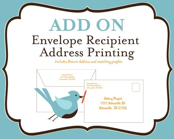 how to put return address on envelope