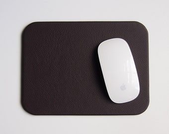 Espresso Brown Leather Mouse Pad