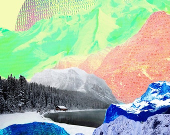 Mountain Digital Collage – 2 sizes available