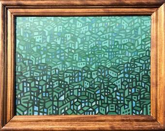 Aqua City Painting