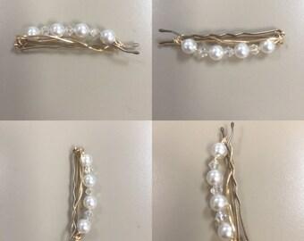 5 Swarovski Pearl - Hair Accessories