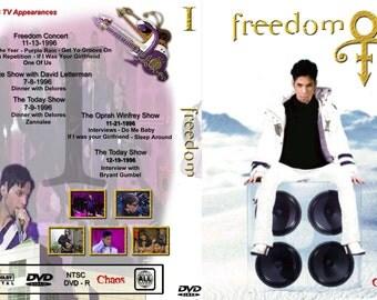 PRINCE FREEDOM VOL 1-3 3 dvdr set (Emancipation era tv performances 1996-1997)