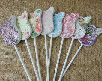 Floral Wooden Tulips On A Stick
