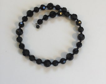 1950s Black Lucite Necklace