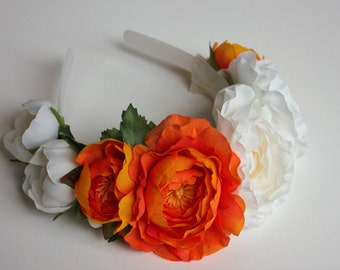 Headband, Flower Headband, Wedding Headband, Bridal headband, bridesmaids headband, flower girl headband