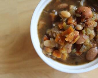Crockpot White Chili Mix- Vegan, Sugar Free, Gluten Free, Paleo, Clean Eating, Soup