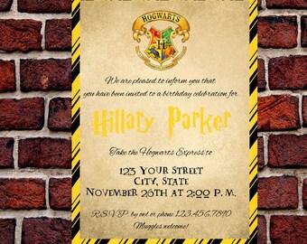 Hufflepuff Harry Potter Invitation