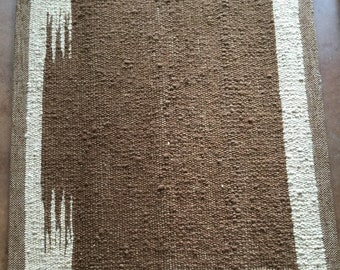 Handwoven Alpaca Rug OR Saddle Blanket - Southwestern, All Natural, No dyes, Soft on the feet (or horse)