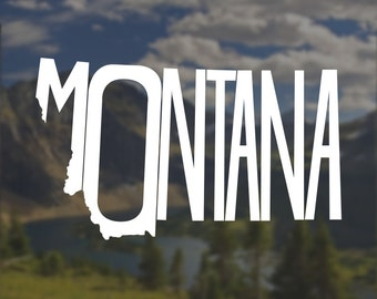 Montana Decal, Montana Sticker, Laptop Decal, Laptop Sticker, Macbook Decal