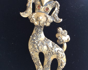 1960's Gerry's Poodle Brooch