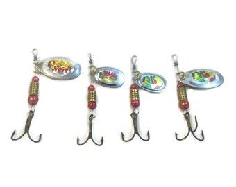 Fishing spinner bait, Fishing lure, Fishing tackle, Fishing gear, Angler, Mens gift, Fishing decor, Crankbait, Fishing pole, Fishing hook