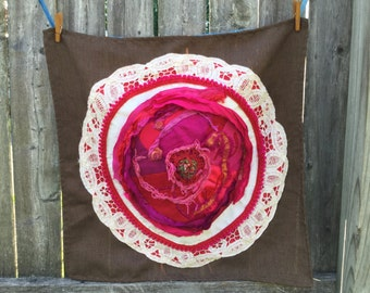 Pinks and reds wallhanging
