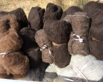 Shetland Wool Batts for Spinning or Felting