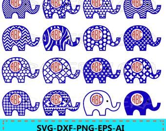 60 % OFF, Elephant Monogram SVG, Elephant SVG File, Elephant Pattern svg, svg, png, eps, dxf, Elephants Silhouette, Elephants cut files