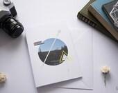 Modern Geometric Design Blank Greeting Card | Artwork | Gift | Birthday Card | Thank You Card | Wedding Card
