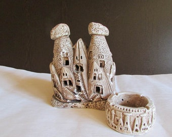 Plaster sculpture depicting the rock niches in Cappadocia, Turkey,  Handmade 1990,s, Collectibles