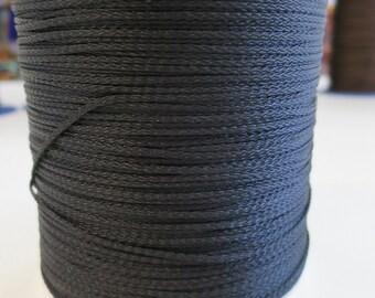 1mm x 500mts Black rayon Cord