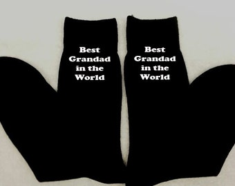 Personalised Men Mens Socks ANY MESSAGE Christmas Gift Birthday Present Embroidered Message Husband Grandad Uncle Underwear