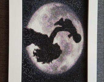 "Rhinestone painting ""Woman in the Moon"""