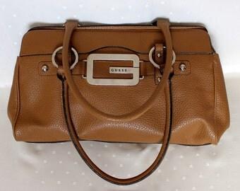 Vintage Guess 1980s Brown  Handbag Bag