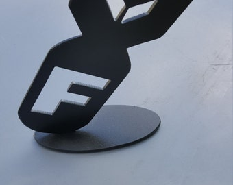 F Bomb Paperweight / Desk Art Piece
