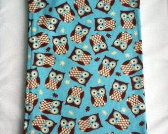 Teal Owl Receiving Blanket